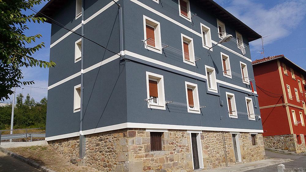 Arreglo de fachada en Abadiño