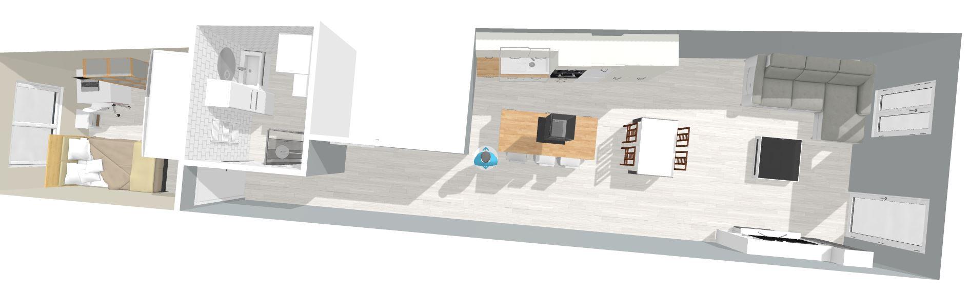Diseño 3D y proyección de piso en Elorrio