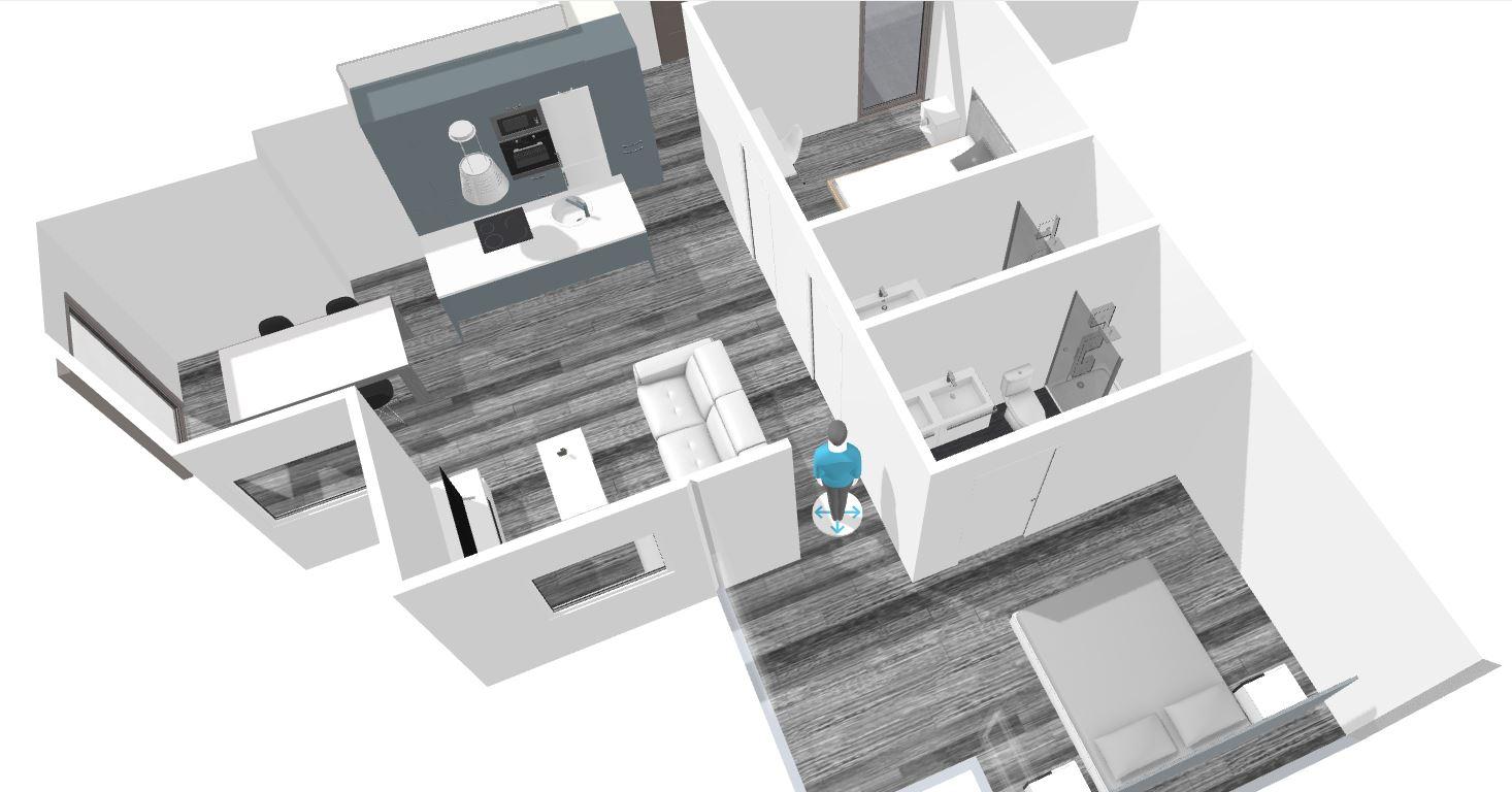 Diseño 3D y proyeccion de piso en Laredo